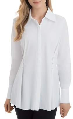 Lysse Faux-Pearl-Trim Tunic Shirt