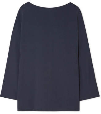The Row Duni Stretch-cady Top - Navy