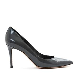 Sergio Rossi Grey Patent leather Heels