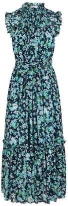 Zimmermann Pleated Floral Maxi Dress