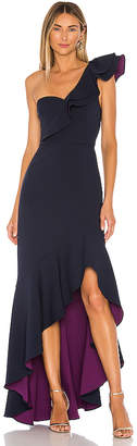 BCBGMAXAZRIA One Shoulder Hi Low Gown