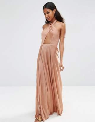 Asos DESIGN Slinky Jersey Cross Wrap Maxi Beach Dress