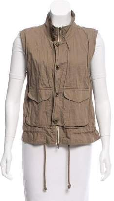 L'Agence Gathered Zip Front Vest