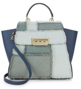 Zac Posen Eartha Patchwork Trapeze Tote Bag