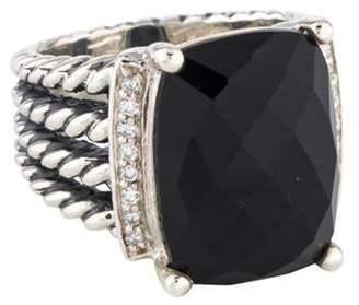 David Yurman Onyx & Diamond Wheaton Ring silver Onyx & Diamond Wheaton Ring