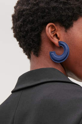Cos PADDED TWO-TONE LEATHER HOOPS