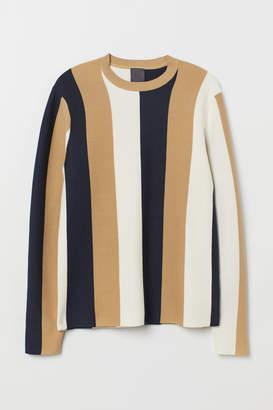 H&M Premium Cotton Sweater - Beige