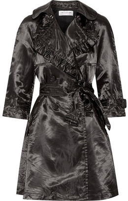Comme des Garçons GIRL - Ruffled Satin Trench Coat - Black $1,245 thestylecure.com