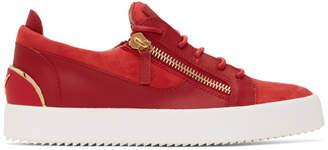 Giuseppe Zanotti Red Signature Frankie Sneakers