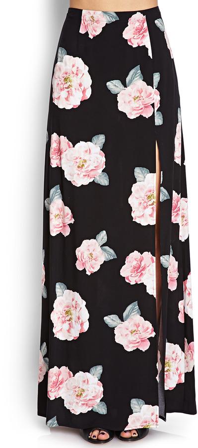 Forever 21 Blooming Maxi Skirt