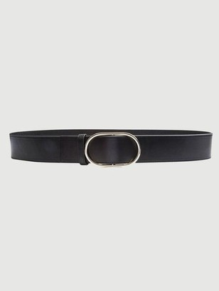 Frame Oval Ring Leather Belt