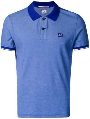 C.P. Company tonal trim polo shirt