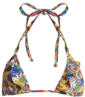 Stella McCartney Floral Print Triangle Bikini Top - Womens - Multi