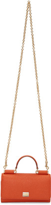 Dolce & Gabbana Orange Small Chain Wallet Bag $845 thestylecure.com