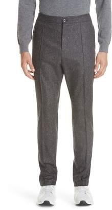 Ermenegildo Zegna Flat Front Solid Wool Trousers