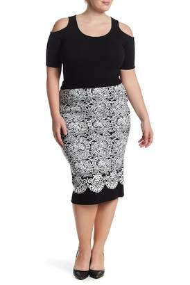 Rachel Roy Fitted Jacquard Sweater Skirt (Plus Size)