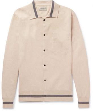 Oliver Spencer Roxwell Slim-Fit Striped Cotton Cardigan