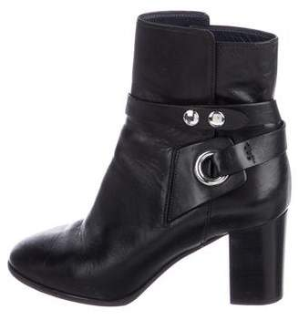 Isabel Marant Leather Round-Toe Ankle Boots