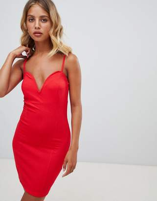 New Look V Neck Bodycon Dress