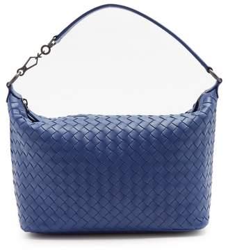 Bottega Veneta - Intrecciato Small Leather Shoulder Bag - Womens - Navy