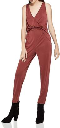 BCBGeneration Split-Back Crossover Jumpsuit