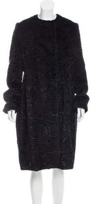 Sara Lanzi Faux Fur Long Coat