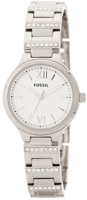 Fossil Women's Stainless Spectacle Bracelet Watch $105 thestylecure.com