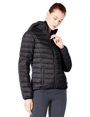 5Oaks Womens Light Weight Short Down Jacket Hooded Packable L