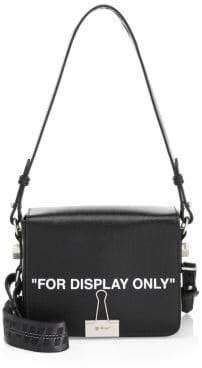 "Off-White For Display Only"" Leather Shoulder Bag"