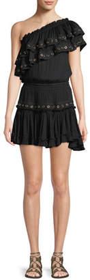 MISA Los Angeles Larisa One-Shoulder Ruffle Mini Dress