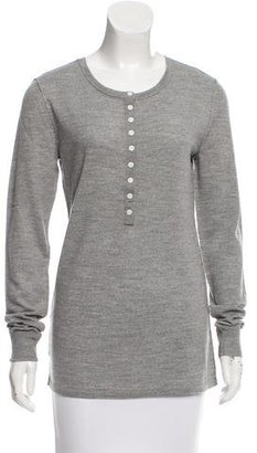Inhabit Wool Long Sleeve Henley w/ Tags $95 thestylecure.com