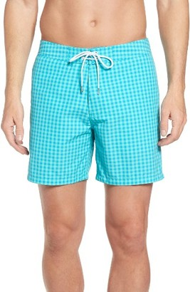 Men's Bonobos Banzai Gingham Swim Trunks $88 thestylecure.com