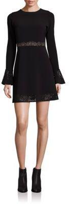 Parker Sonoma Lasercut Fit & Flare Dress $315 thestylecure.com