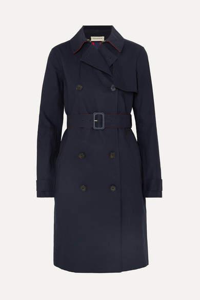Rainie Cotton-gabardine Trench Coat - Blue