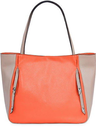 PERLINA Perlina Cruise Colorblock Leather Tote Bag $119.40 thestylecure.com