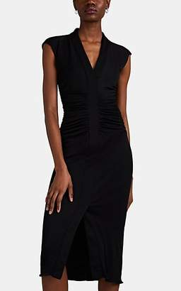 Narciso Rodriguez Women's Ruched Jersey Midi-Dress - Black