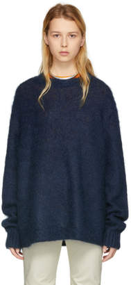 Acne Studios Blue Mohair Maxhi Sweater