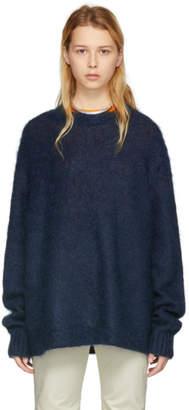 Acne Studios Blue Mohair Maxhi Sweater