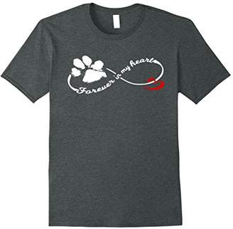 Forever in My Heart Dog Pawprint Infinity T-Shirt