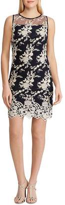 Ralph Lauren Lace-Embroidery Sheath Dress