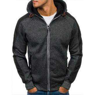 MZjJPN Sportwear MZjJPN Winter Hoodie Cardigan Long Sleeve Hoodies Men Zipper Sweatshirt Mens Hooded Plus Size Coat Jacket M