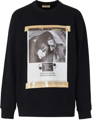 Burberry Archive Campaign Print Cotton Sweatshirt