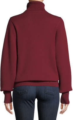 The Row Meredith Turtleneck Wool Sweater
