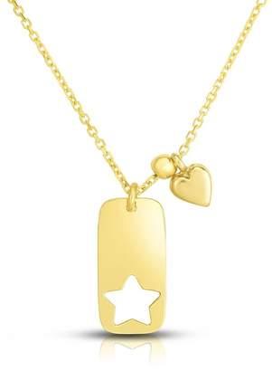 Sphera Milano 14K Yellow Gold Cutout Star Bar Pendant Necklace