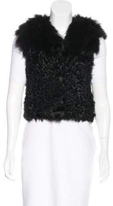 Yves Salomon Fur-Accented Shearling Vest