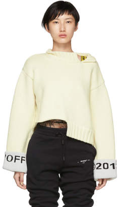 Off-White White Cuff Over Crewneck Sweater