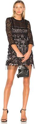 RED Valentino Lace Fit & Flare Mini Dress