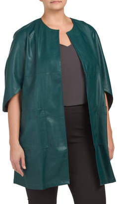 Faux Leather Topper