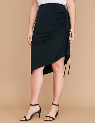 Lane Bryant Side-Ruched Midi Skirt