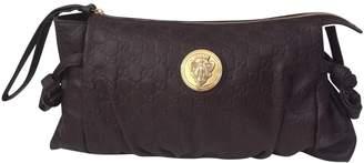 Gucci Brown Leather Clutch bag Hysteria